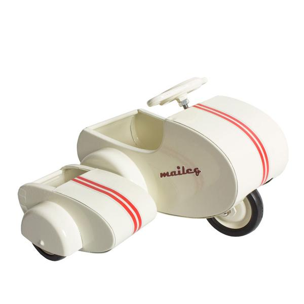 Maileg - Retro scooter med sidovagn - D.B.A.K